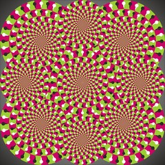 Optical illusion ellipse combination
