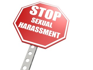 Stop sexual harassment road sign
