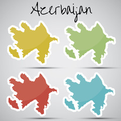 stickers in form of Azerbaijan