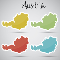 stickers in form of Austria