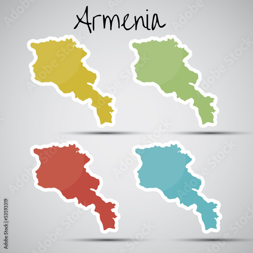 stickers in form of Armenia