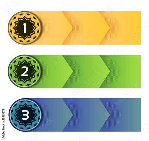 Vector Paper Progress Background / Product Choice or Version