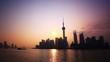 Shanghai Sunrise, Panning Time Lapse.