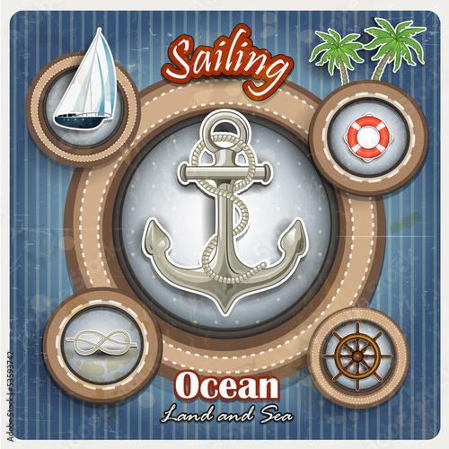 Icons marine