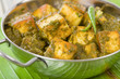Palak Paneer - Asian curry with cheese cubes and pureed spinach.