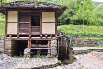 """Water mill and water wheel, called """"Dolap"""", which puts water in"""
