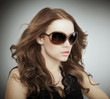 beauty face with sunglasses