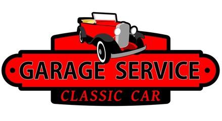 Garage service classic car