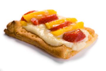 Strawberry and mango puff