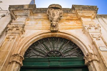 Greco palace. Ceglie Messapica. Puglia. Italy.