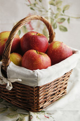 Fresh apples in basket