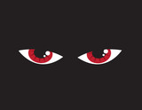 Two large red angry eyes