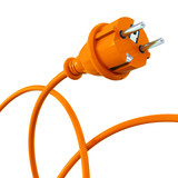 Orange power plug - dynamic