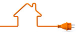 Orange power plug - house