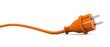 Leinwandbild Motiv Orange power plug - curve