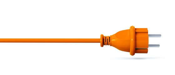 Orange power plug - line