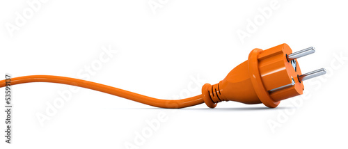 Orange power plug - curve