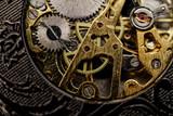 Watch gears very close up