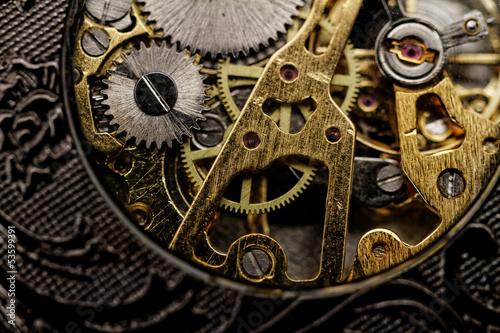 Leinwandbild Motiv Watch gears very close up