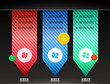 Ribbon modern infographics template