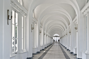 Interior of Cameron Gallery in Tsarskoe Selo, Russia