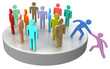Leinwandbild Motiv Help join up social business people