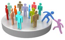 """Постер, картина, фотообои """"Help join up social business people"""""""