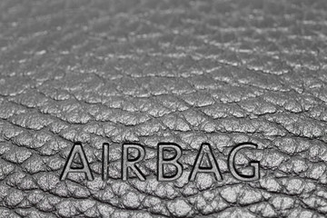 airbag sign on a dashboard