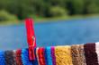Handtuch, Klammer, nach dem Baden