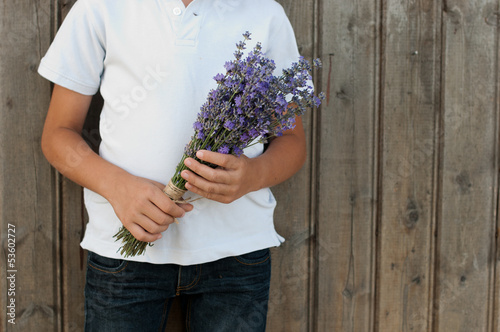 Lavender in hands