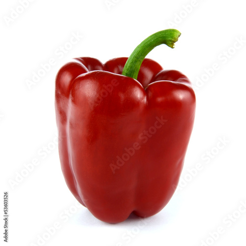Red Bell Pepper on a white background