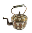 Authentic metal teapot vessel isolated
