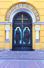 Main antrance to St Vladimir cathedral