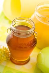 Several honey jars