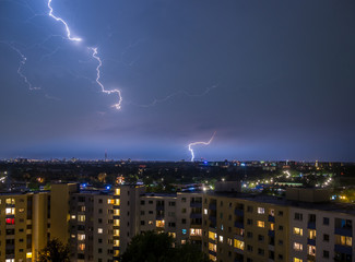 Hamburg Thunderstorm Lightning
