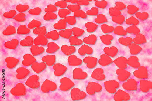 pink heart background with clipping path
