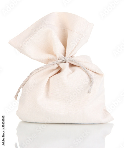 Small sack, isolated on white