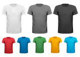 Black and white and color men polo shirts.