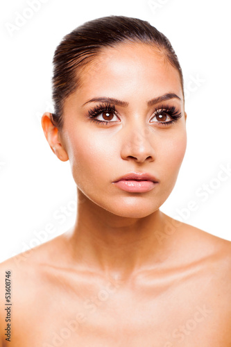 attractive young woman closeup beauty shot