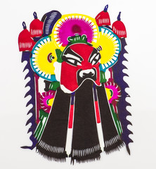 Chinese papercut:one facial makeup in Peking Opera