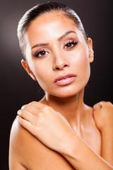 young woman beauty shot closeup
