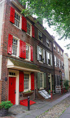 the oldest street in the United states- Elfreth's alley