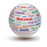 Fototapety welcome sphere
