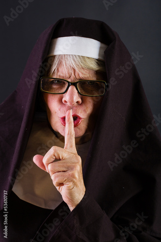 Shushing Nun