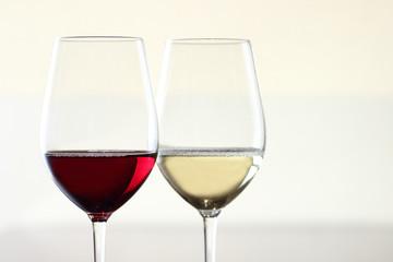 赤ワイン、白ワイン