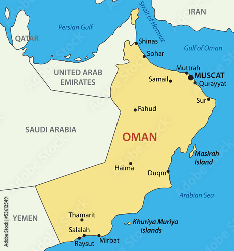 Sultanate of Oman - vector map