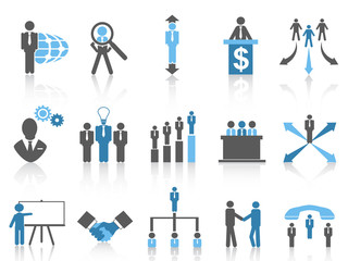Business and Management Icons, blue series