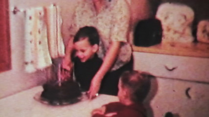 Boy Enjoying His Birthday-1966 Vintage 8mm film