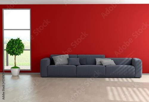 rote wohnzimmerwand von fischer lizenzfreies foto 53616340 auf