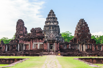pimai castle, historical park  and ancient castle in thailand